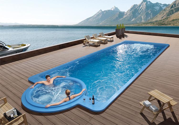 Inground Pool With Hot Tub Joy Studio Design Gallery