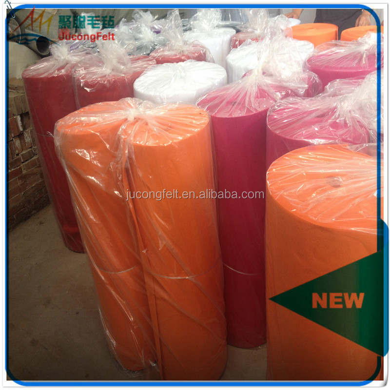 China factory high quality 1mm/2mm/3mm polyester non woven felt/color fabric
