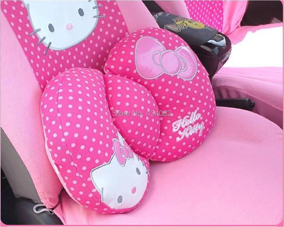 Cartoon hello kitty car interior accessories back cushion - Hello kitty car interior accessories ...