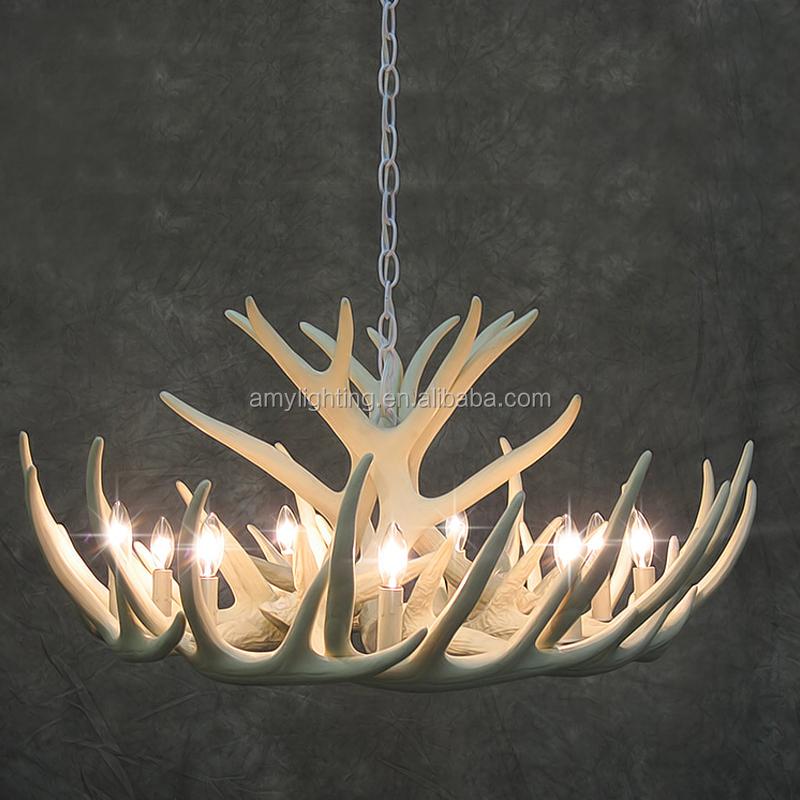 6 Lichter Leuchten Rustikalen Pendelleuchte Harz Hirschgeweih Kronleuchter
