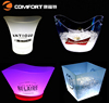 Plastic battery light up frosted LED ice bucket