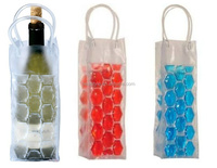 Wholesale waterproof recycle durable pvc cooler wine bag bottles recycled plastic bag