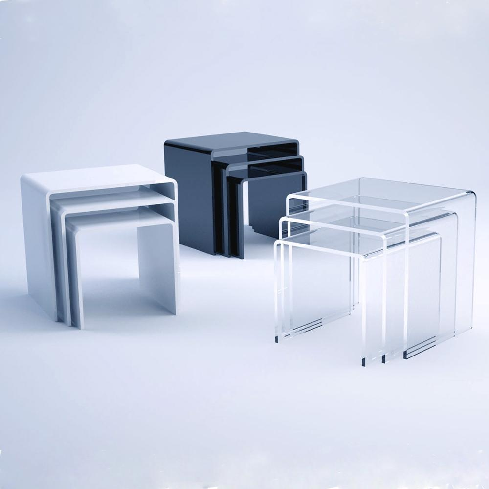Clear Plastic Coffee Table Acrylic White End And Sets