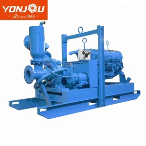 China Yonjou 9.5m self-priming suction head 6 inch 8 inch Dry Running mine dewatering wellpoint mine pump