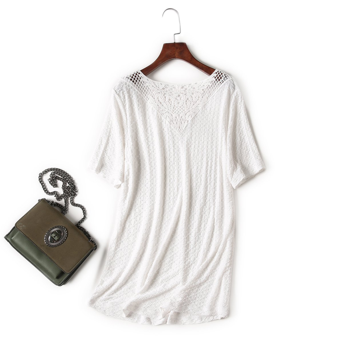 Cool, Relaxed And Breathable Mesh T-Shirt With Short Sleeves