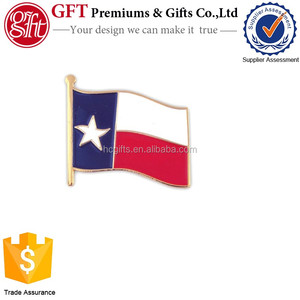 2016 New Promotional Gift Custom Enamel Texas State Flag Pin
