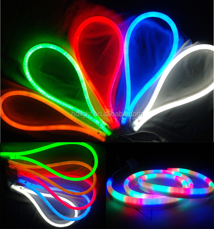 copper line led neon rope light ip65 outdoor 100m decoration led