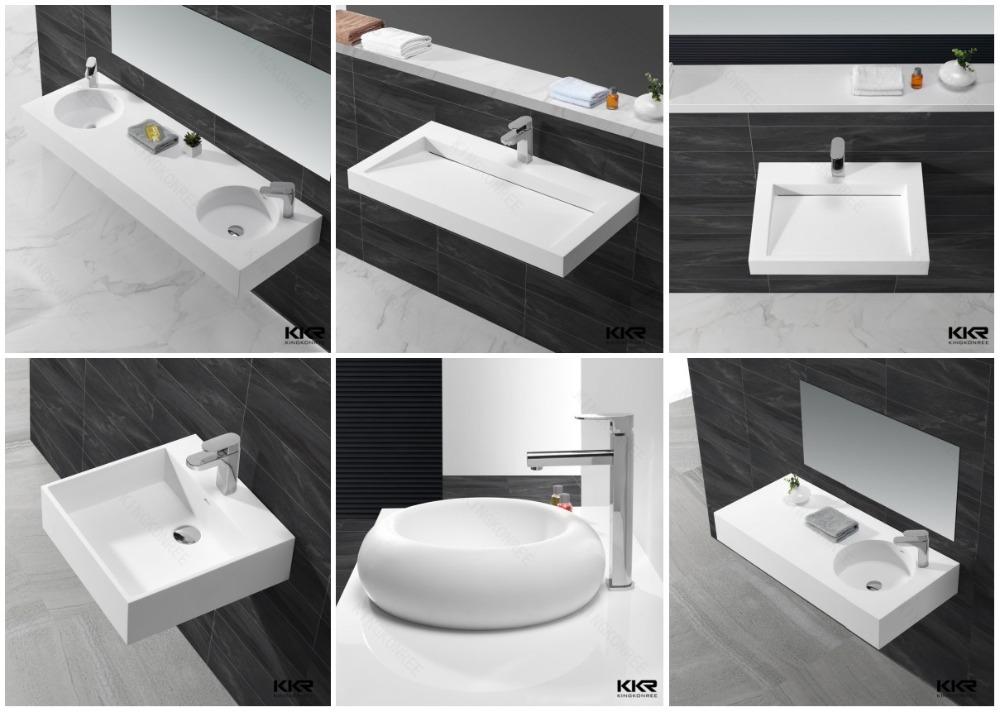 Luxury lavatory pedestal wash basin free standing bathroom for Latest wash basin designs india