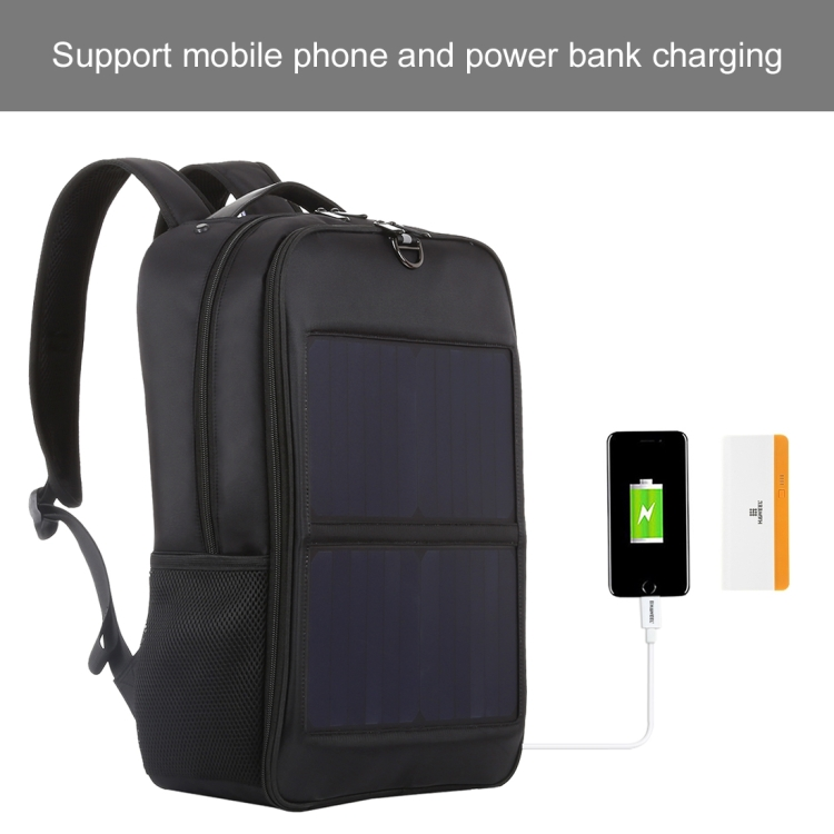 HAWEEL Laptop Bag 14W Solar Panel Power Backpack with Handle and USB Charging Port