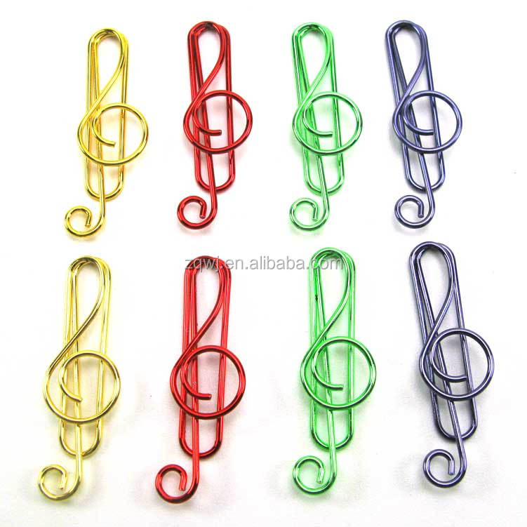 fancy shape music note paper clip professional manufacturer