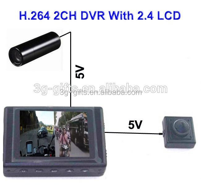mini 2ch mobile dvr sd cards full D1 MDVR