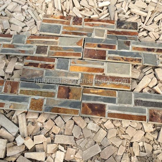 Pared exterior revestimiento barato pizarra oxidada - Piedra pizarra oxidada ...