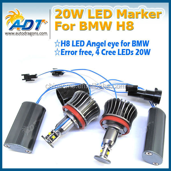 12V LED markers lights for BMW High power 20W E92 H8 super white