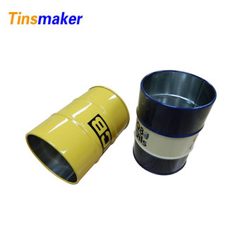 hot round oil barrel shaped tin can