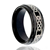 Men's Stepped Edges Tungsten Carbide Ring with Celtic Men's Wedding Band