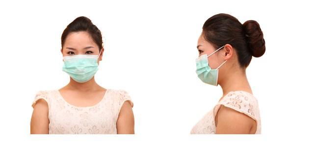 Hospital Cirúrgico descartável Não Tecida Máscara Facial Com Gancho Ou Laços