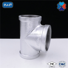 Galvanized Malleable Iron Pipe Fitting Bullhead Tee