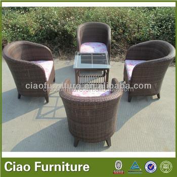 Nuevo Diseño Al Aire Libre Muebles De Ratán Café Arábica Y Juegos De ...
