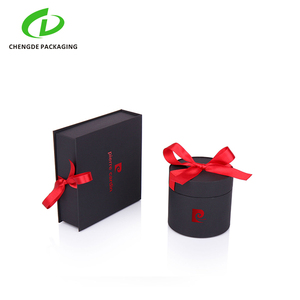 black beautiful art paper bags cardboard exquisite cylinder gift box