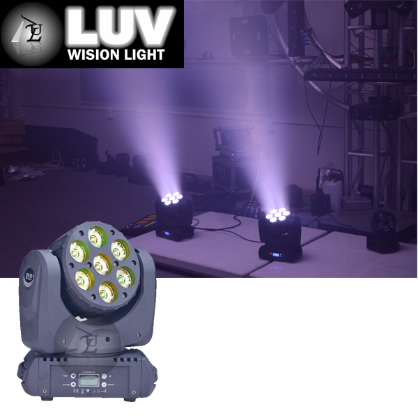 Multiple color change rgbwa uv 6in1 led beam moving head