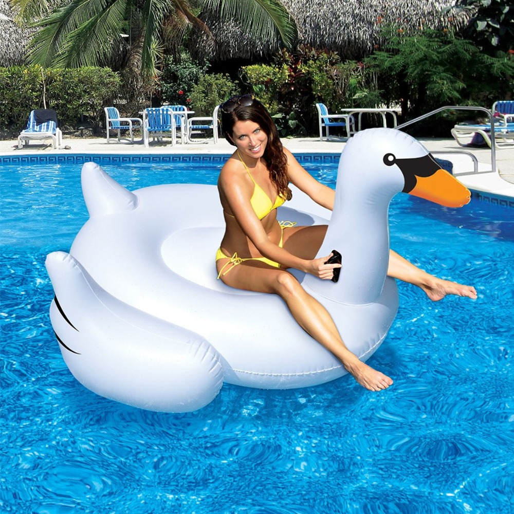 Summer Hot Giant Swan 60 Inch 1 5m Inflatable Ride On Pool