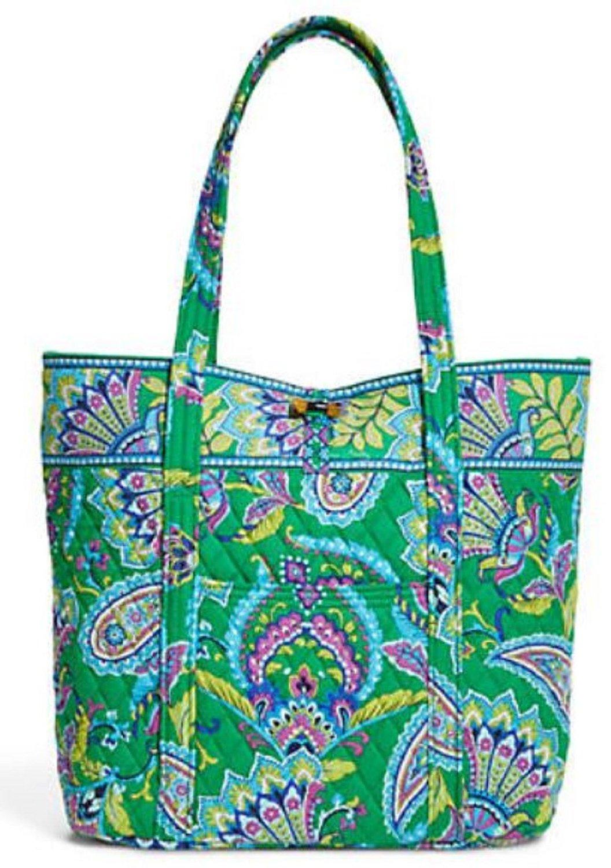 6ca99c7658 Get Quotations · Vera Bradley Vera Signature Bag in Emerald Paisley