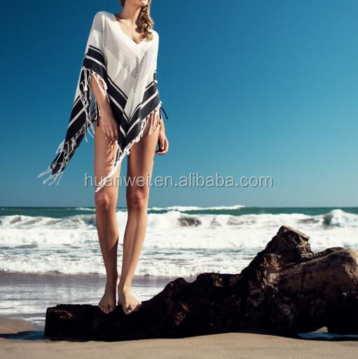 Sunscreen Summer Tassel Swimwear Bikini Cover Ups Crochet Beach shawl