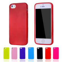Candy Color Silicone TPU Gel Soft Case For Apple iPhone 5 5S Rubber Material Soft Back Cover For iPhone5 Shockproof Phone Bags