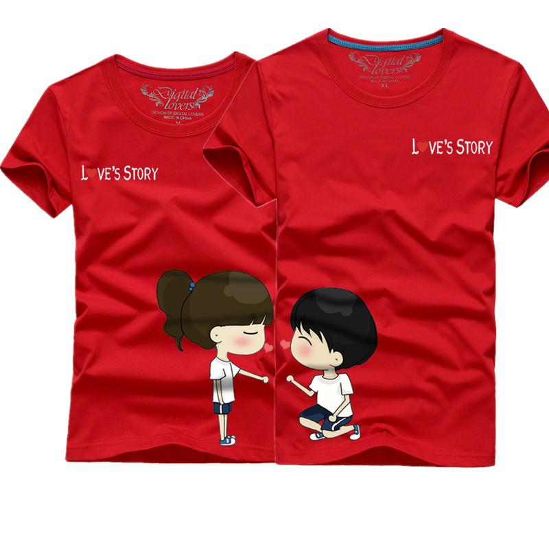 Cartoon Couple Design Tees Shirts Couple Tee Tops T Shirt: Online Kaufen Großhandel Frauen Cartoon Aus China Frauen
