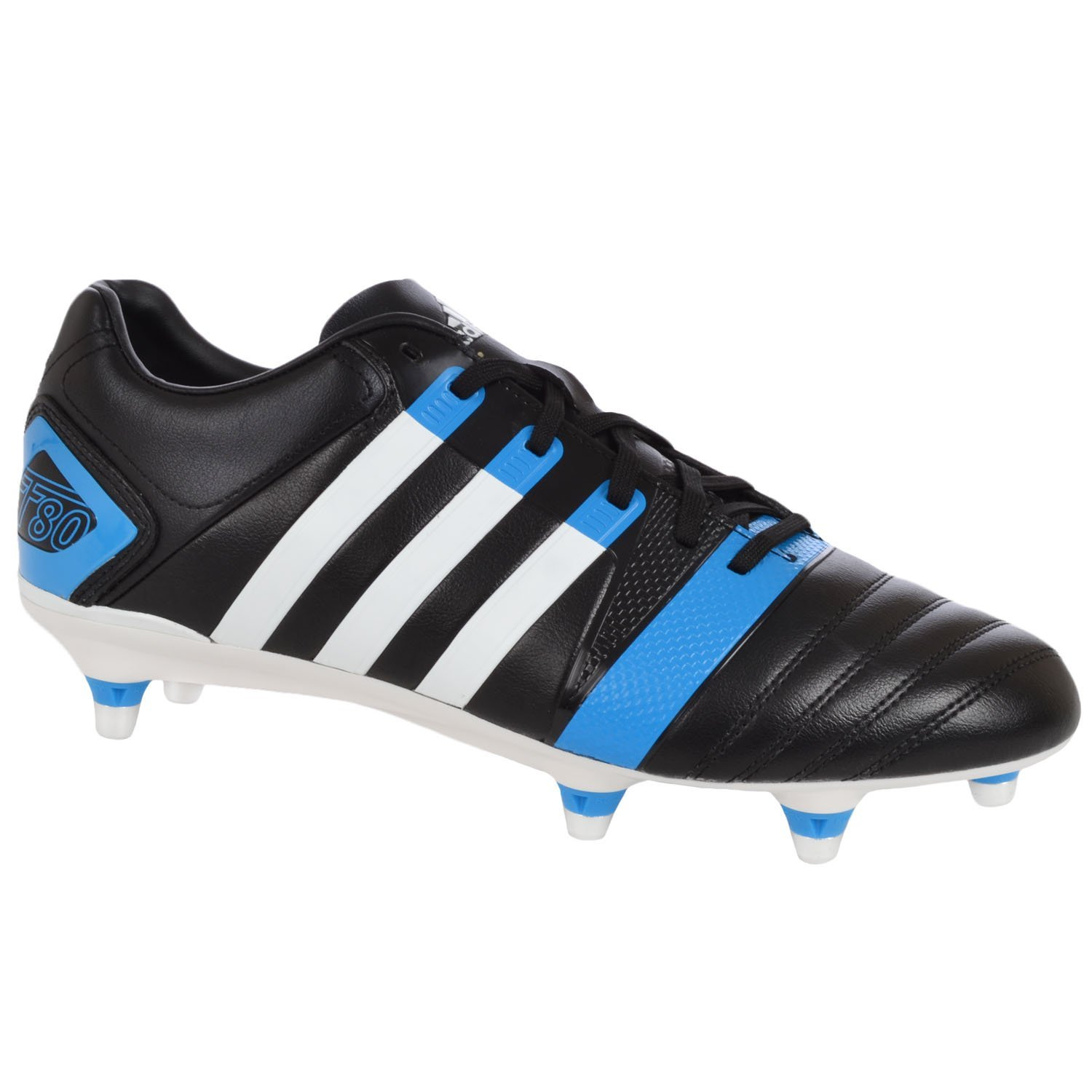 14b44d8f1 Get Quotations · FF80 Pro XTRX SG II Rugby Boots Black Running White Solar  Blue