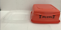 Halloween disposable food storage container orange 821