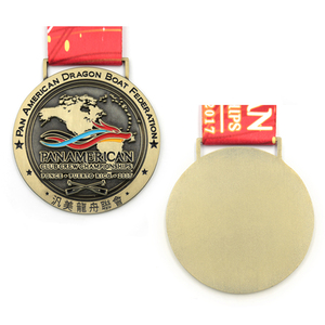 Custom cheap metal antique gold plated cheap award medals