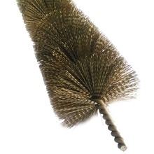 Steel wire chimney cleaning brush kit