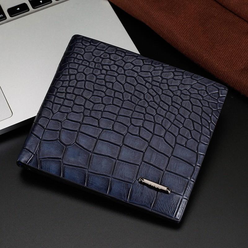 Alligator Wallet Super Fiber Leather Short Men Wallets Famous Brand
