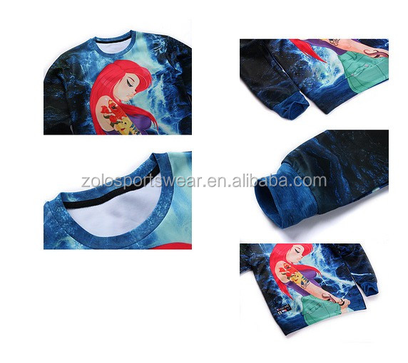 Custom printed made sublimation hoodies /sweatshirts