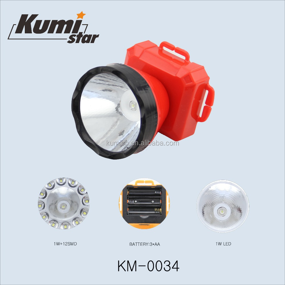 dry battery led headlamp flashlight KM-0034