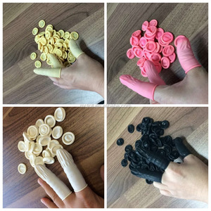 Nitrile natural latex disposable rubber finger cots