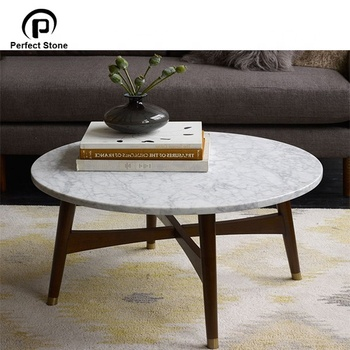 Carrara Marble Round Coffee Dining