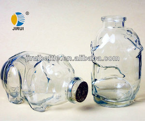 Animal Shaped Glass Bottles,Pig Shape Storage Jar