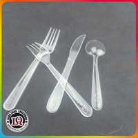 Custom Plastic Disposable transparent Cutlery kit