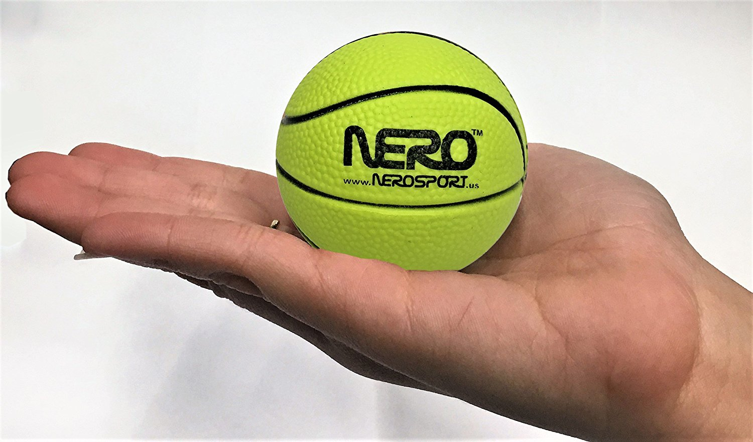 Nero NS-RS High Bounce Rubber Mini Basketball 2.5 inch Skills Development Toy Great For the Streets Playground Park Back Yard Playground Agility Ball Bulk Wholesale Price Birthdays Summer Ball Gifts