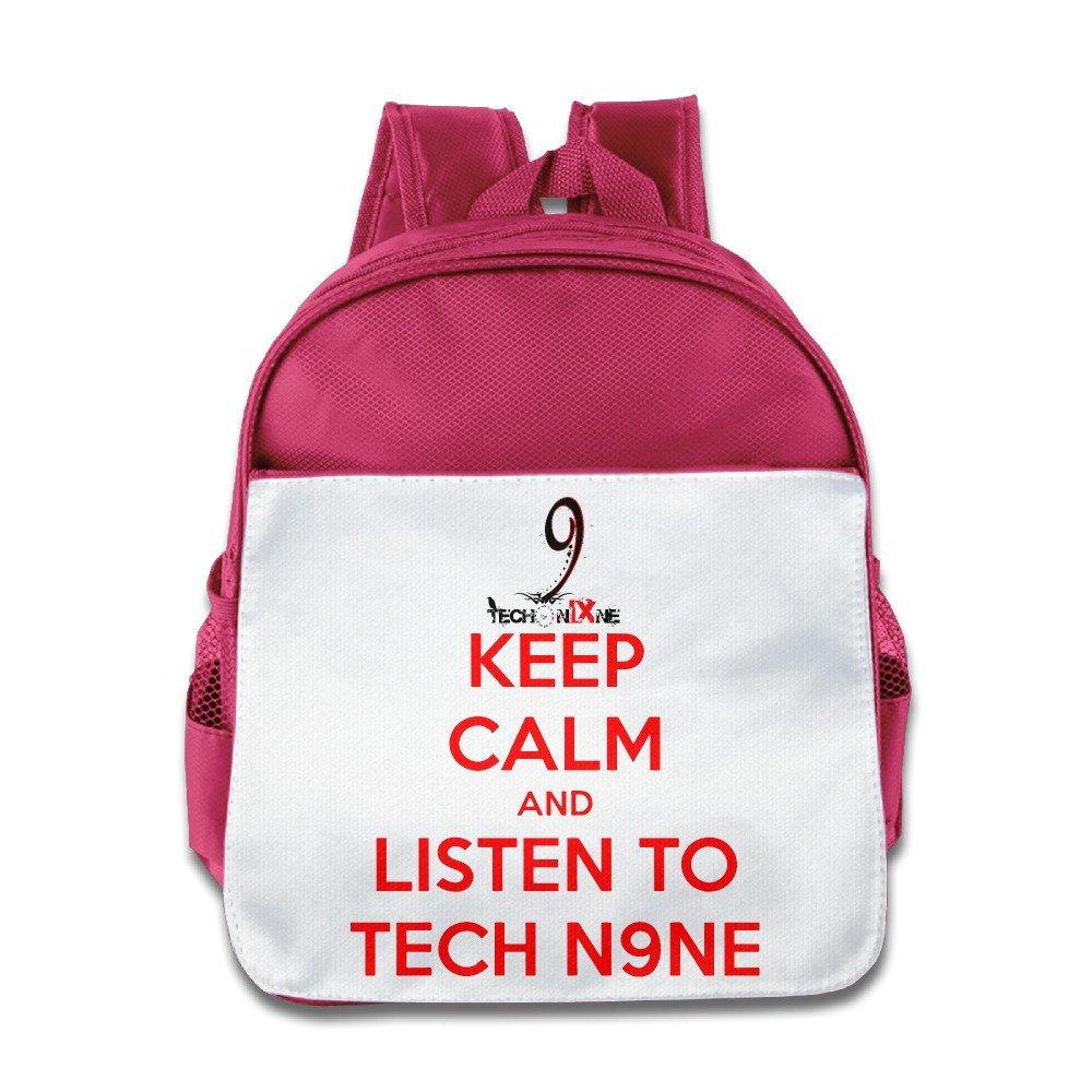 Ysov Keep Calm And Listen To Tech N9ne Baby Boys Girls Preshool School Bag Pink