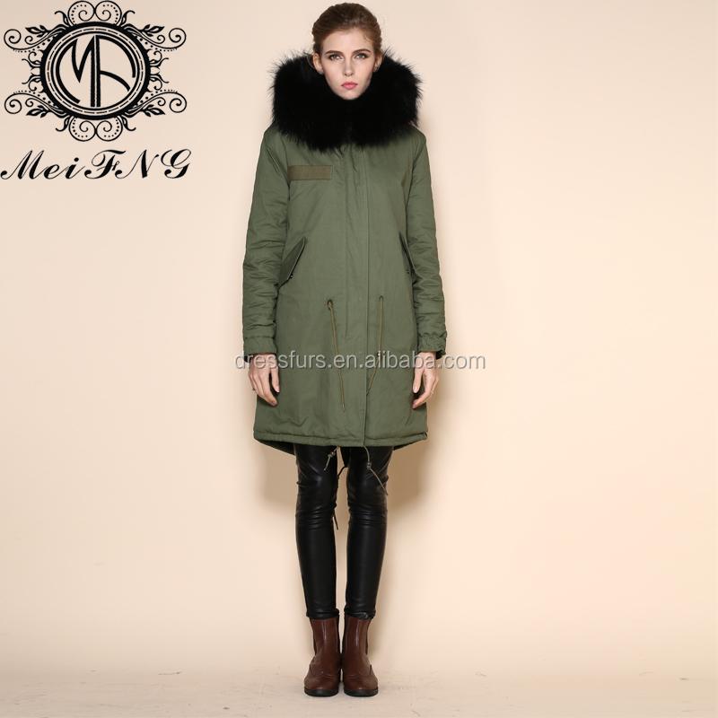 New Winter Women Long Down Jacket Ladies Padded Cotton Jacket Coat ...