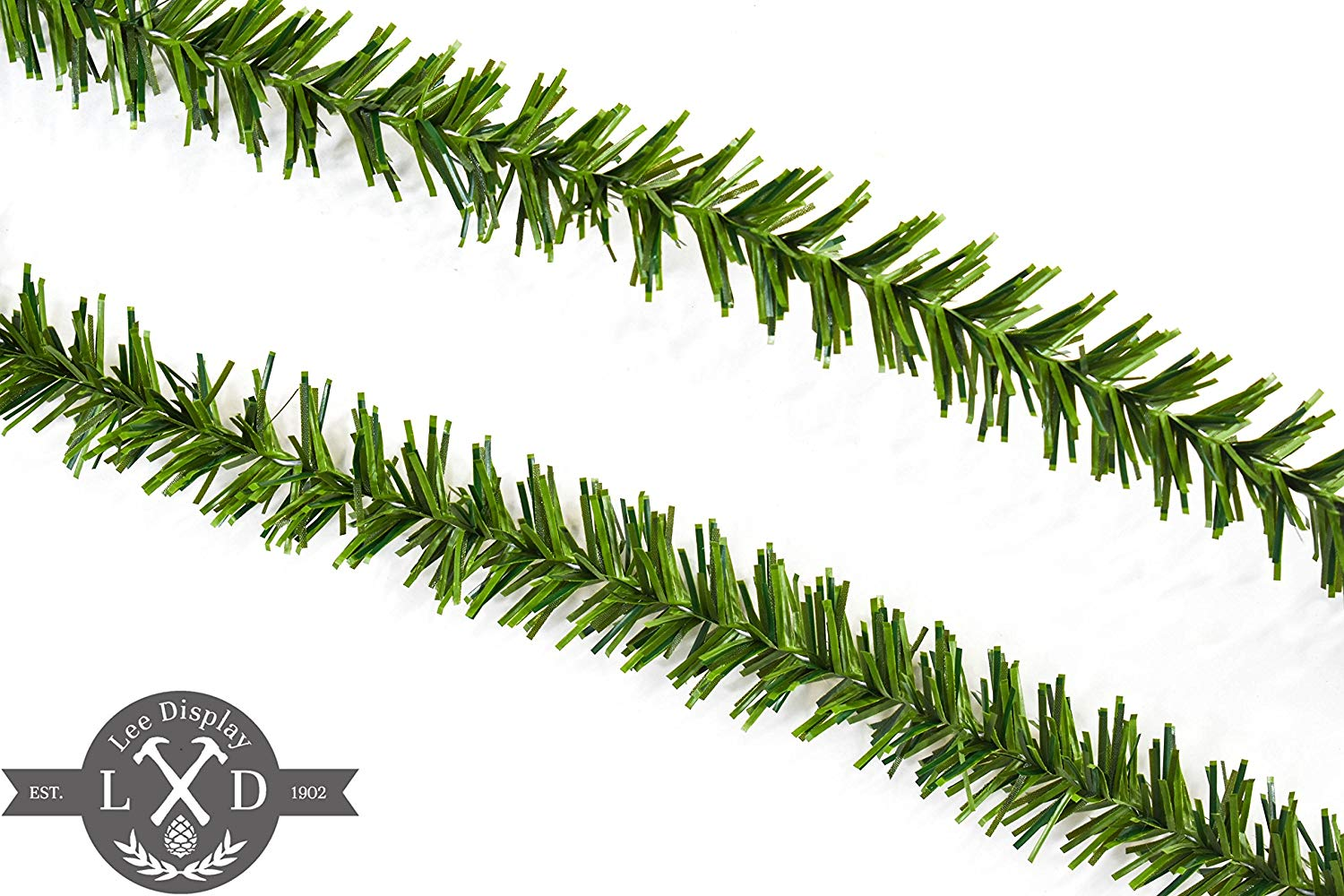 25ft alpine green tinsel garland alpine green tinsel garland 3in width tinsel garlands for christmas decorations - Outdoor Tinsel Christmas Decorations