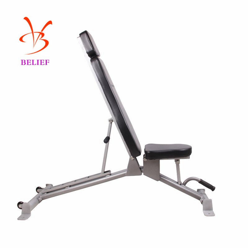 Stainless Steel Adjustable Gym Equipment Ab Workout Bench