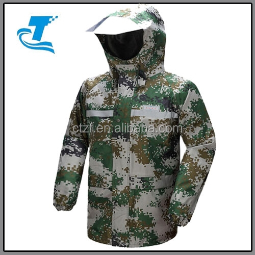 men Breathable Waterproof Thicken Military Rain Suits