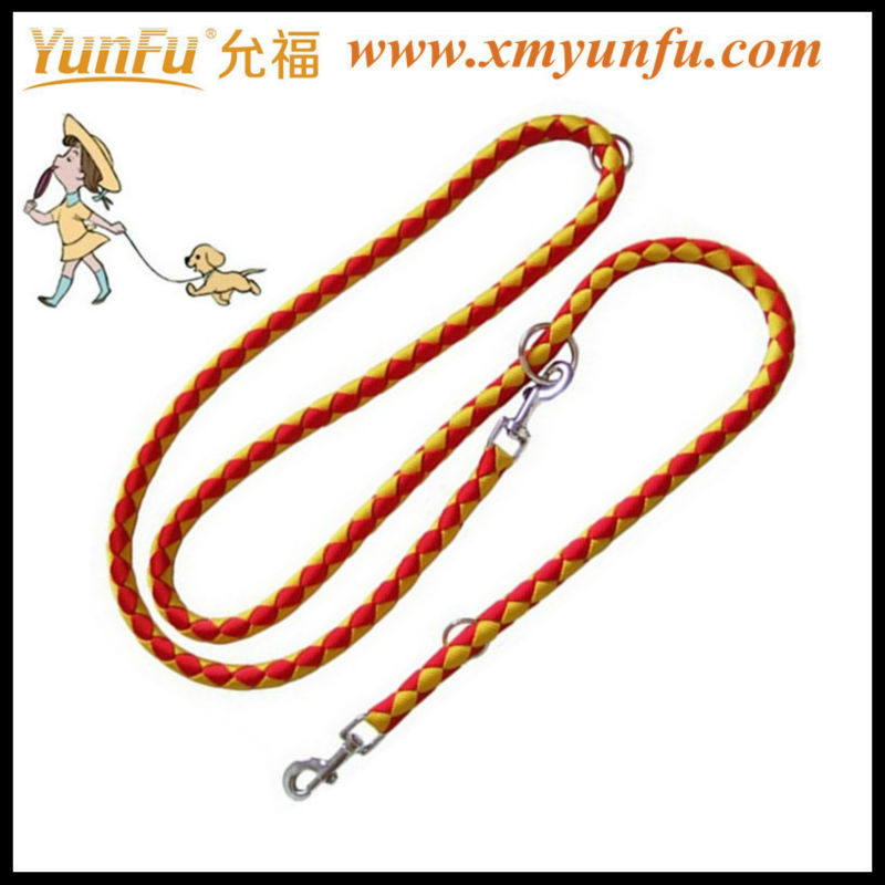 Braided nylon rope pet leashes & collars with weave collar