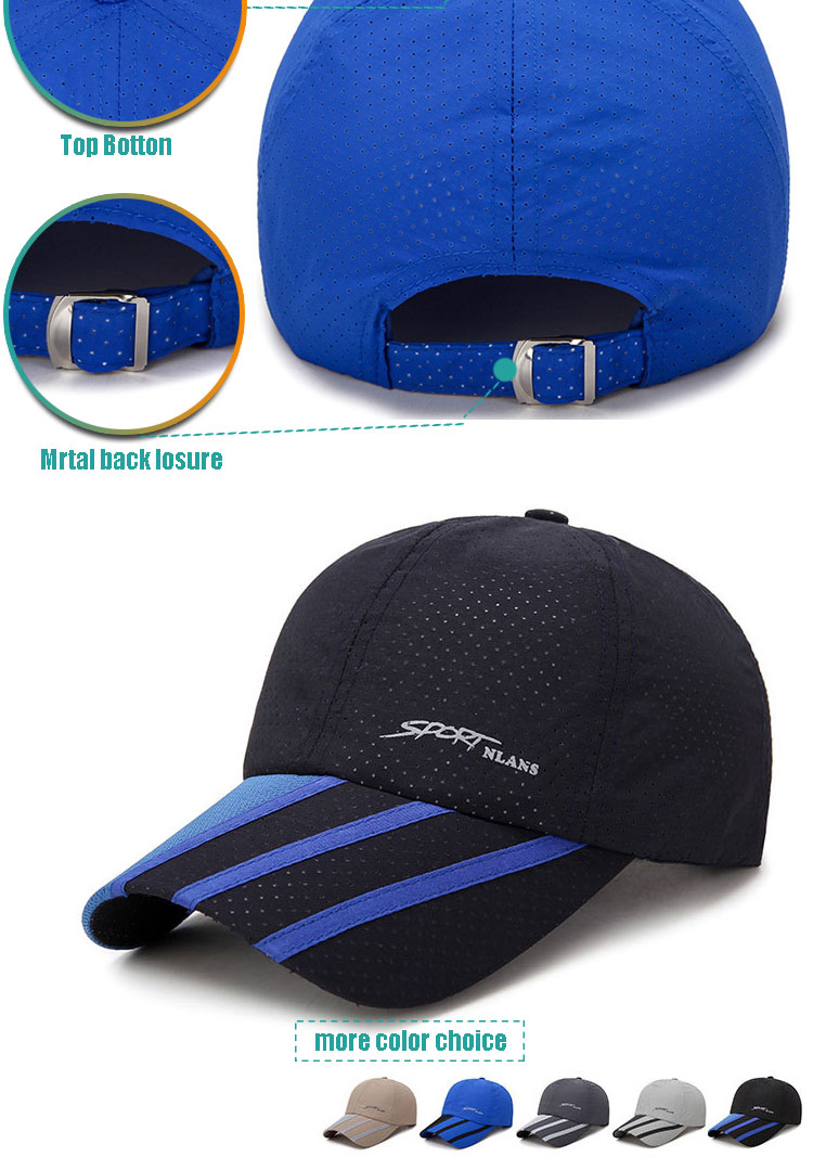Wholesale Running Cap Dry Polyester Running Fit Hat Cap Running Sports Hat
