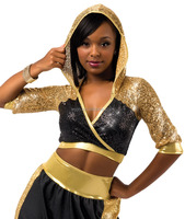 2016 New !!-adult women boxing spark sequin and hip-hop dance costumes