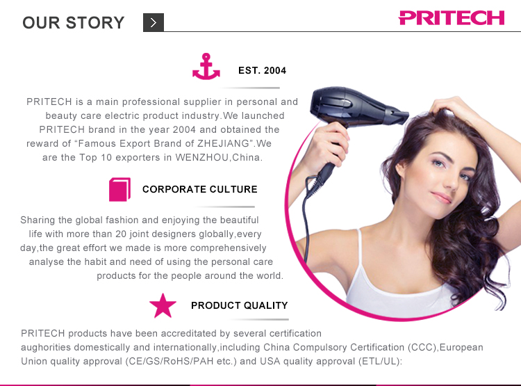 PRITECH Ceramic Coating Hair Curling Iron LCD display Temperature Control Electric Hair Curler